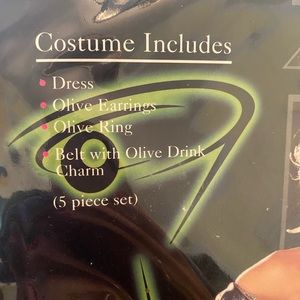 Other - SALE Dirty Martini Costume Belt & Earrings M